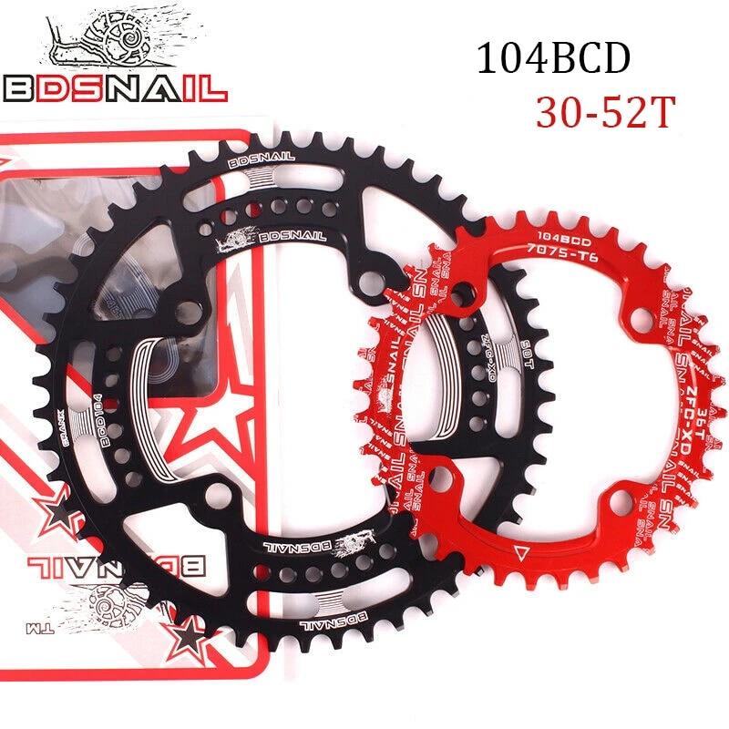 SNAIL 104BCD Narrow Wide 30-52T MTB Bike Single Chainring fit SHIMANO//FSA Crank