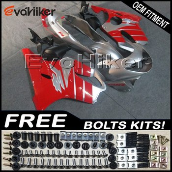 Custom fairing motorcycle bodywork kit for CBR600F4 1999-2000 ABS motorcycle panels Injection mold red silver+Gifts
