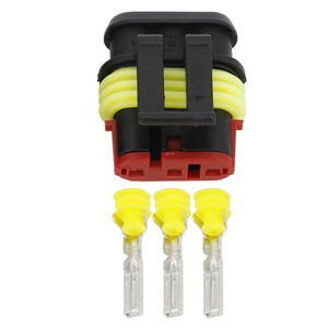 Image 5 - 100 Sets 3 Pin AMP 1.5 Connectors DJ7031 1.5 Waterproof Electrical Wire Connector Xenon lamp connector Automobile car part
