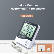 Hygrometer Clock Temperature-Humidity-Meter Weather-Station HTC-1 Outdoor Home Digital