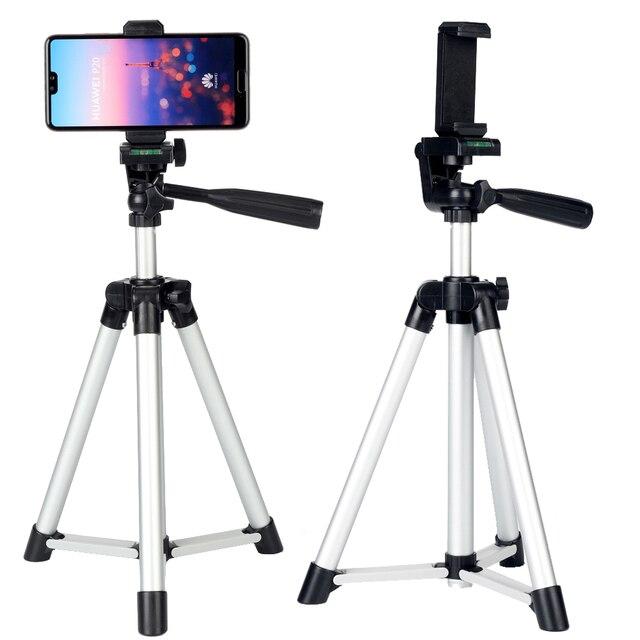 מצלמה חצובה סטי ערכת מתנת טלפון וידאו Stand מחזיק שולחן עבודה עבור iPhone 12 11 פרו 6S 7 8 בתוספת XR XS מקס סמסונג S10 + S20 Ultra