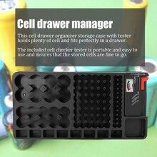 Портативный удобный органайзер для хранения ячеек с тестером портативный держатель коробка Checker DIY Kit