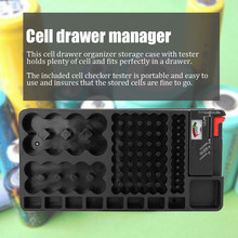 Organizador de celda de almacenamiento cómodo portátil con Tester Portable Holder Box Checker DIY Kit(China)