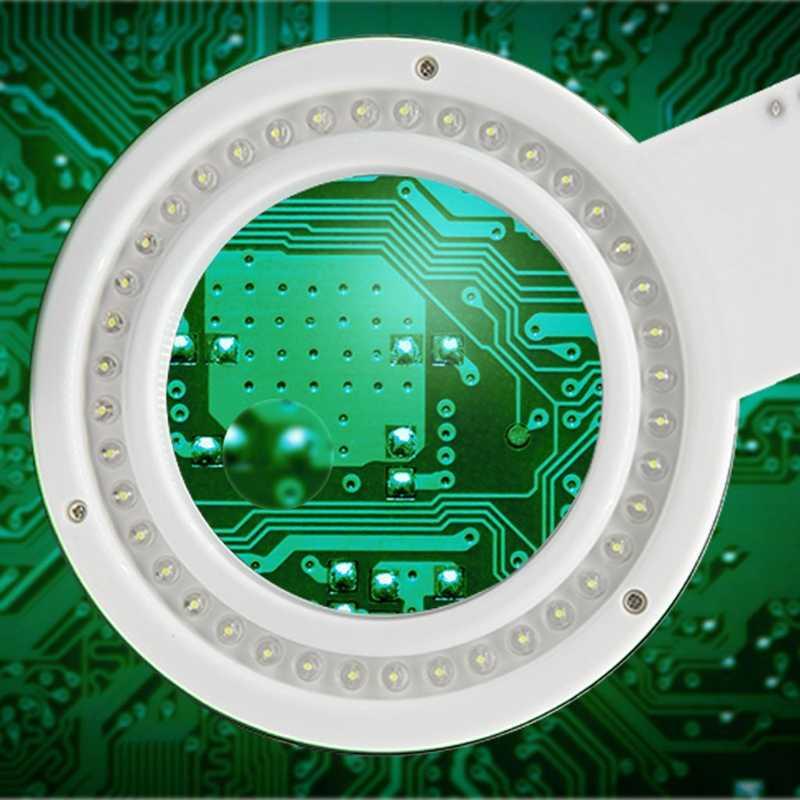 5X 10X увеличительное стекло настольная лампа Инструменты для ремонта с 40 светодиодный светильник Прямая поставка поддержка