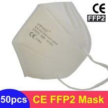 Máscara de respirador FFP2 reutilizable, KN95 mascarilla protectora para la boca, protección contra Virus, fpp2, aprobado por la CE