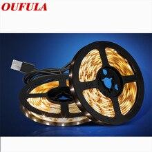 OUFULA USB Led Strip DIY Television Background Light With Waterproof Low Voltage 5V For Living Room Bedroom Decoration
