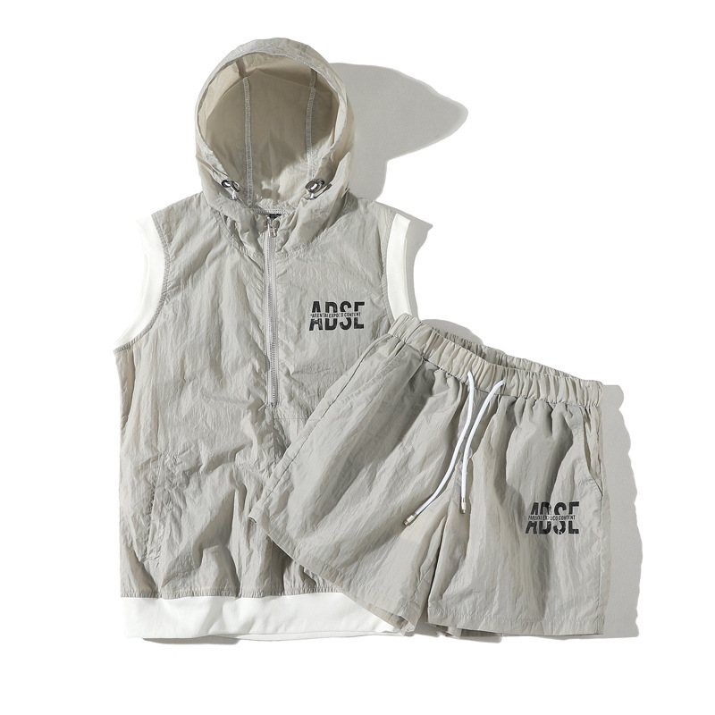 2020 Summer New Style Men And Women Sleeveless Set Couples Quick-Drying Fabric Sleeveless Shorts Set