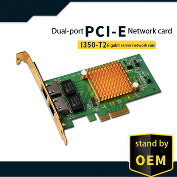 Intel I350 chipset PCI-E Gigabit network server network card gold card E1G42HT RJ45 dual-port Gigabit server network card original eicon diva server 4bri 8m pci e 803 031 01 selling with good quality and contacting us