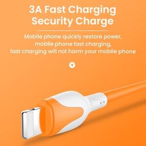 Image 4 - Cabo usb de silicone macio para carregamento rápido de celular, fio de dados de carregador rápido para iphone 12 11 pro max x xr xs 8 7 6s 3a de 1/2m