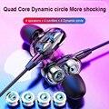 Сбалансированный Armatured + динамическими наушниками 2 драйвера подвижная катушка железа 3,5 мм Универсальный In-Ear проводные наушники новые 3D ст...