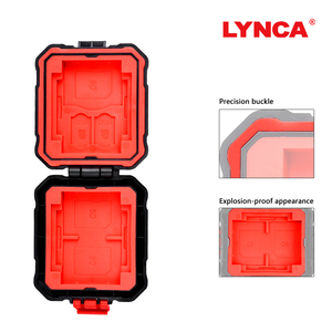 Image 4 - LYNCA Waterdichte Memory Card Case Houder Opslag Sim Micro TF SD Card Case Storage Box Houder Portemonnee Bag Carrying Pouce case