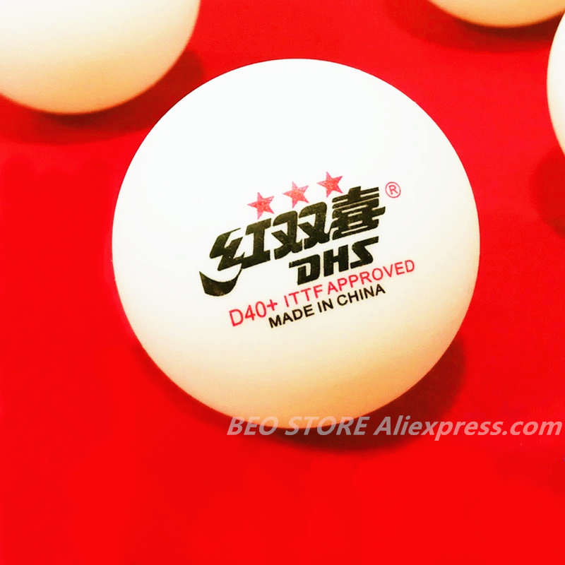 30 Balls/ 60 Balls DHS 3-star D40+ Table Tennis Ball Original 3 Star Seamed New Material ABS Plastic Ping Pong Balls Poly