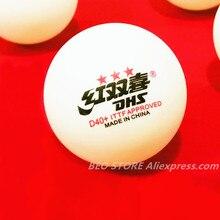 30 bolas/60 bolas dhs 3-star d40 + bola de tênis de mesa original 3 estrelas seamed novo material abs plástico ping pong bolas poli