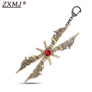 Брелок для ключей ZXMJ League of legends Irelia, хит продаж, мужской держатель для ключей, подарок для любителей