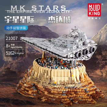 Starwars Compatible lepined Star Toys Wars Destroyer The Empire Over Jedha City Model Building Blocks MOC-18916 Bricks DIY Gifts