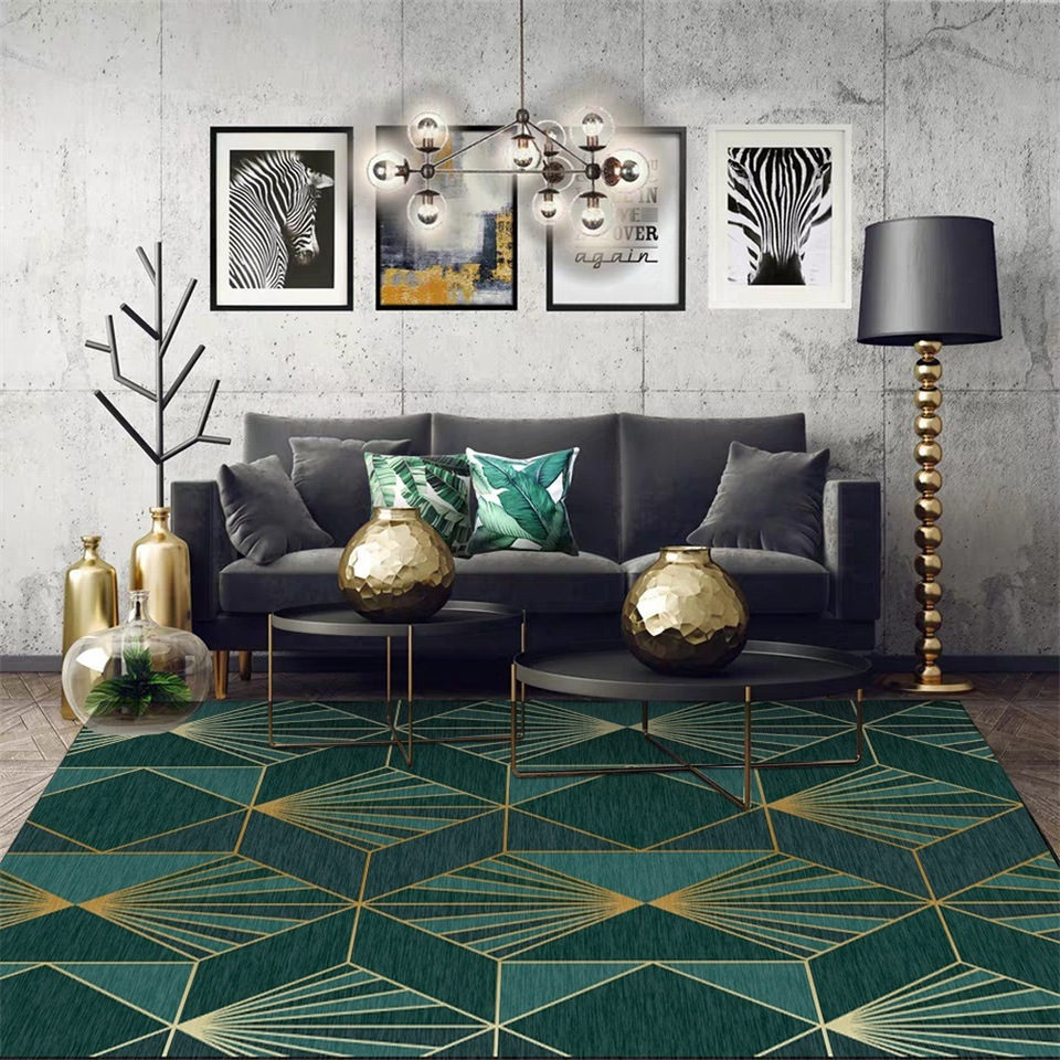 grey black and gold living room