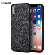 Genuine Leather Phone Case for Apple iPhone X 11 11 Pro Max XS XSmax XR Se 6s 5 5s 6 7 8 plus luxury 360 full Protection Cover(China)