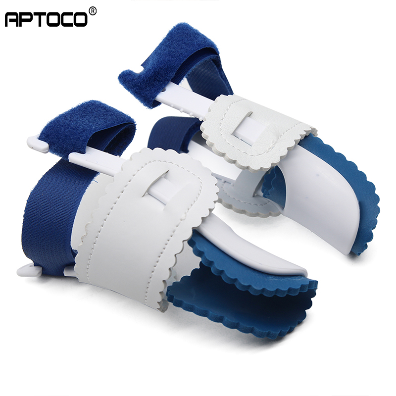 APTOCO 2Pcs Big Toe Separator Corrector Straightener Bunion Splint Toe Straightener Foot Pain Relief Hallux Valgus Feet Brace