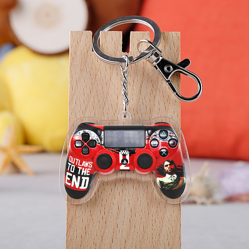 2019 New Game Red Dead Redemption 2 Keychain Acrylic Crystal Key Ring Jewelry Souvenir