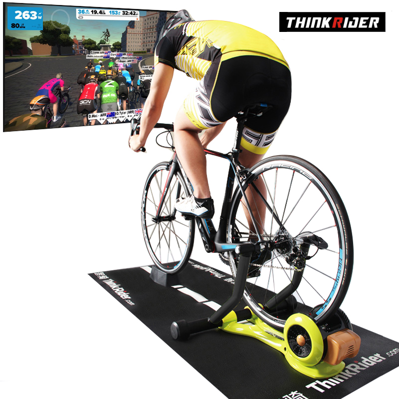 Thinkrider X3 MTB Road Bicycle Smart Indoor Cycling Built-in Power Meter Bike Trainer Platform For PowerFun Zwift PerfPro