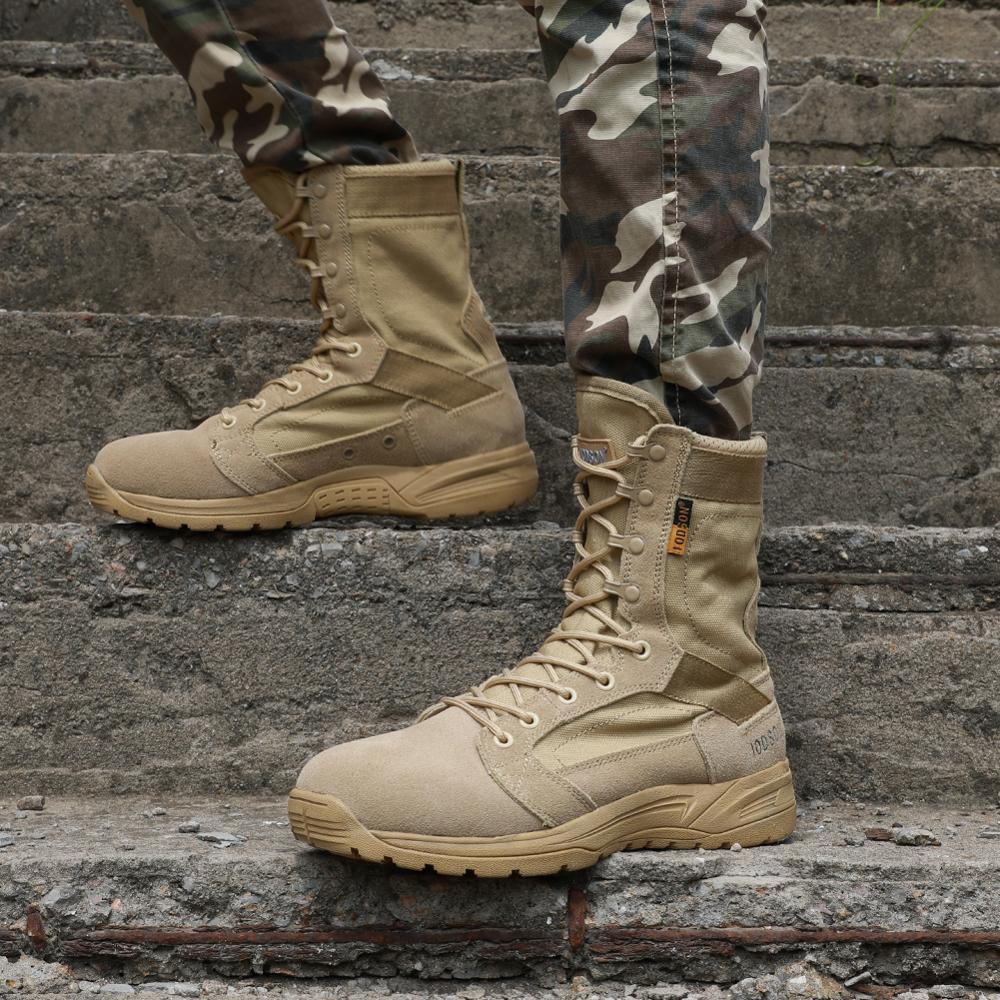 2019 Nieuwe Aankomst Mannen Schoenen Lace up Tactische Militaire Laarzen Comfortabele Ademende Schoenen Werken Veiligheid Laarzen Zapatos De Hombre