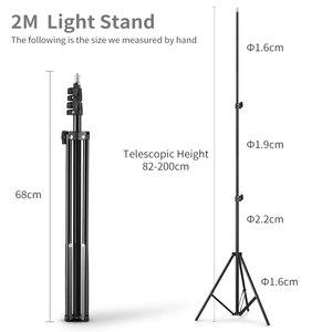 Image 5 - Godox E300 300Ws fotografia błyskanie studyjne światło stroboskopowe + 50x70 cm plaster miodu + 180cm lekki statyw + AT 16 wyzwalacz Flash Kit