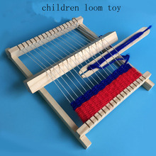 NEW Wooden Children's Loom Toys Children Weaving Machine Interllectural Development Technology Production Montessori Toys