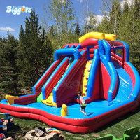 Cheap Inflatable Water Park Slides Pool Juegos Inflables Tobogan For Sale