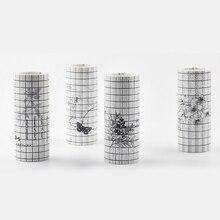 Eno Greeting vintage grid washi tape decorative background m