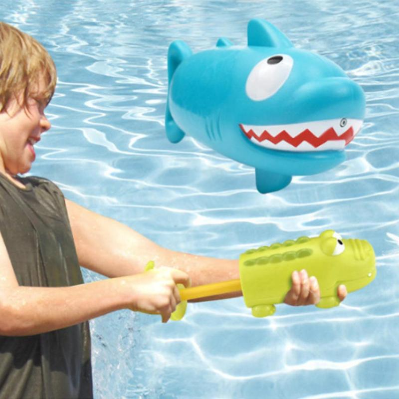 Kids Summer Crocodile Shark Water Gun Game Toy Summer Outdoor Swimming Toys Pumping Lightweight Portable Spray 2019 New Arrival