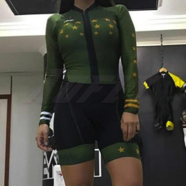 Kafitt manga longa camisa de ciclismo skinsuit 2020 mulher ir pro mtb bicicleta roupas opa hombre macacão gel almofada skinsuit 2