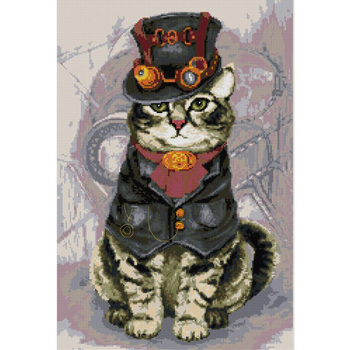 Everlasting Love Gentleman Cat Chinese Cross Stitch Kits Ecological Cotton Stamped 14 CT New Store Sales Promotion image