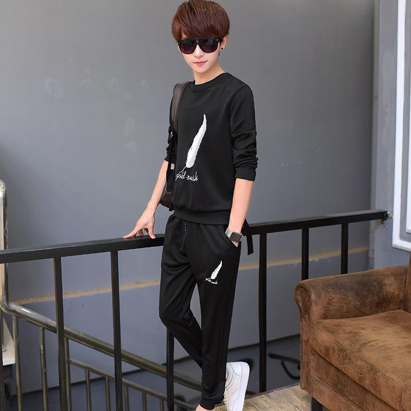 Men's Wear Spring And Autumn Men's Casual Suit Teenager Pullover Hoodie Suit Men's Sport Suit