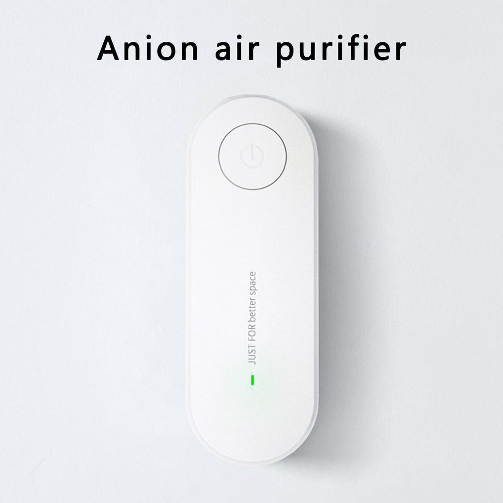 Очиститель воздуха с отрицательными ионами, Дезодоратор запахов, долговечное удаление пыли и дыма, удаление формальдегида, Домашнее исполь...