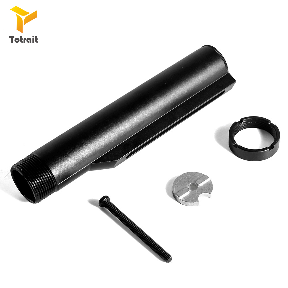 6 Position Stock Mil-Spec Buffer Tube Airsoft Air Guns For G&P JG Classic Army VFC M4 M16 AEG Rifles Paintball Accessories