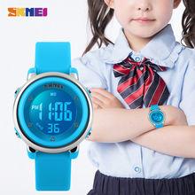 Часы наручные skmei детские цифровые светодиодные спортивные