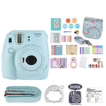 Baru 5 Warna Fujifilm Instax Mini 9 Kamera Foto Kamera + 14 In 1 Kit Video Tas Case Pelindung filter + Album + Stiker(China)