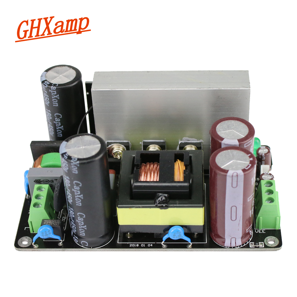 GHXAMP HIFI Switch Power Supply Dual DC 24V 48V 60V 80V 300-500W Power Supply Board With Heat Sink For Low power Amplifier 1pc