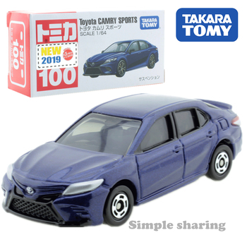 Takara Tomy Tomica No.100 Toyota Camry Sports Car Scale 1/64 Hot Pop Kids Toys Motor Vehicle Diecast Metal Model Collectibles image