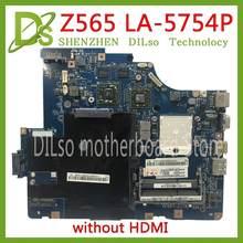 Kefu LA-5754P placa-mãe para lenovo g565 z565 computador portátil placa-mãe z565 placa-mãe teste mainboard