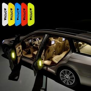 1 комплект двери автомобиля предупреждающие наклейки светоотражающие предупреждение безопасности для peugeot 307 Mazda 3 6 Ford focus 2 Renault duster аксессуары