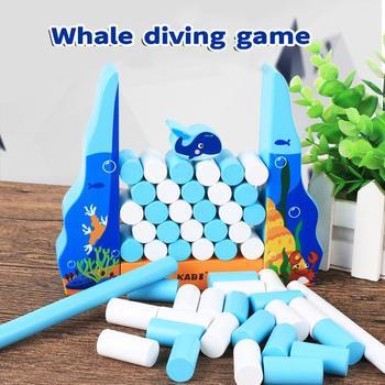 Nowa gra do nurkowania wielorybów dla dzieci puzzle drewniane bloczki kreatywne zabawki dla dzieci tanie i dobre opinie YOQIDOLL CN (pochodzenie) Drewna 8 ~ 13 Lat 14Y Urodzenia ~ 24 Miesięcy 5-7 lat 2-4 lat Zwierzęta i Natura Transport