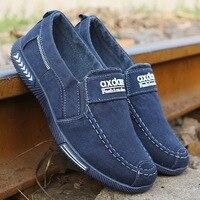 Мужская обувь джинсовые Для мужчин повседневная обувь кроссовки мужские парусиновые туфли, дышащие лоферы; мужская обувь, кроссовки для вз...