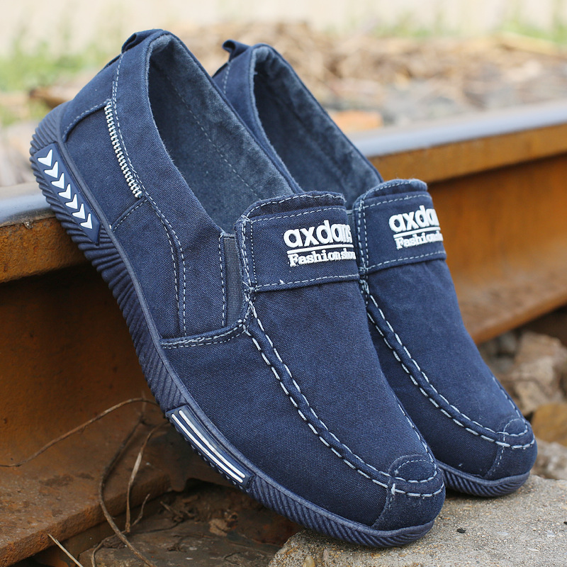 Men Shoes Denim Men Casual Shoes Sneakers Man Canvas Shoes Breathable Loafers Male Shoes Krasovki Adult Footwear Plus Size 46