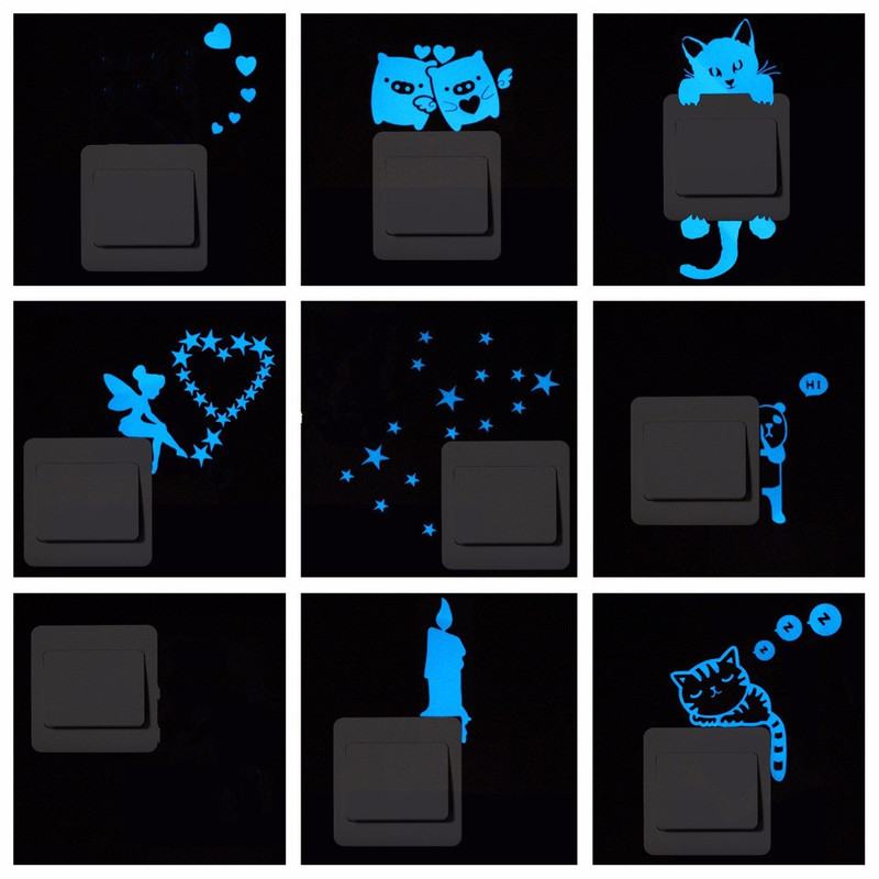 Glow in the Dark Stickers and Shapes Glitter Stars Fairy Kids Bedroom Decoration