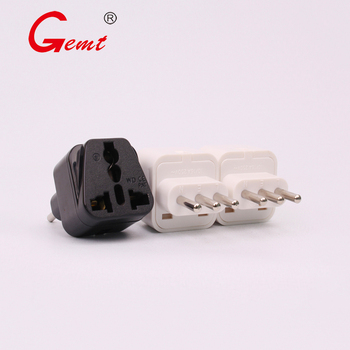цена на Universal Italy To UK US AU to EU AC Power Sockets Plug Charger Outlet Adapters Converter International Wall Plug black or white