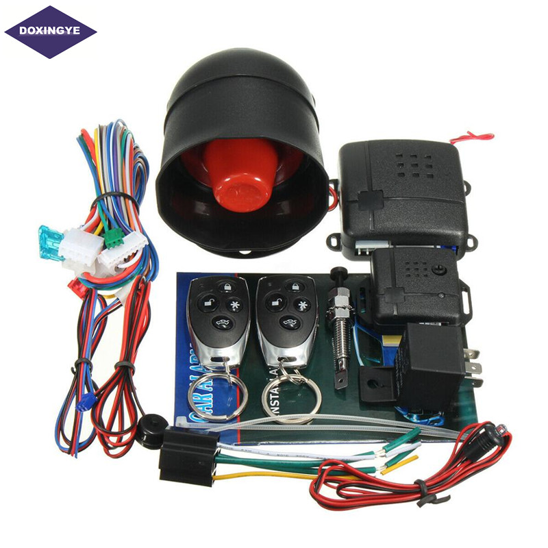 Vehicle. Universal Car Alarm Speaker Horn Anti-Theft Security System with 2 Remote Control for Auto Horn Alarm