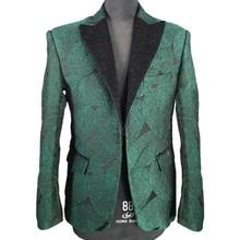 New Leave Style Handsome Green Men Suit Slim Fit Business Party Wedding Suits for Best Men Blazer Groom Prom Tuxedo Ropa Hombre(China)
