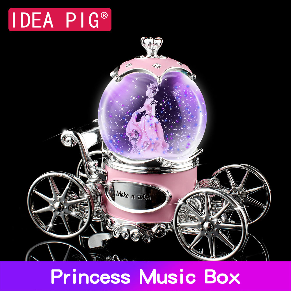 De Transporte princesa Caixa de Música de Presente de Aniversário Brinquedos de Decoração para Casa Decoração Decoração de Casamento Quarto Decoração da Festa de Aniversário para a Menina