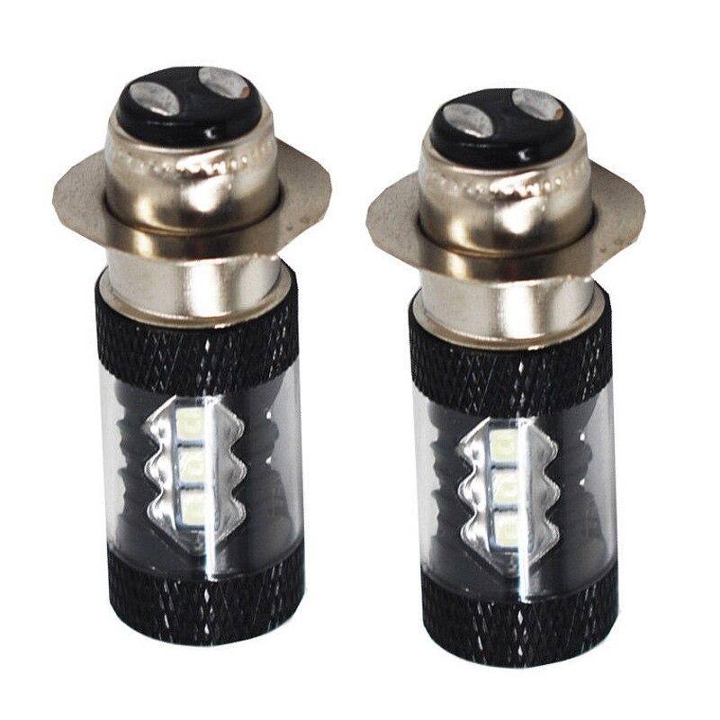 2pcs LED Headlight Bulb Light 80W 1200lm Blue For Yamaha Raptor 125 660R 700R YFM660R Bear Tracker Bruin Grizzly Kodiak